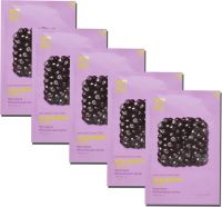 Pure Essence Mask Sheet Acai Berry набор из тканевых масок для лица, 20 мл*5 шт, Holika Holika
