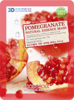 Тканевая 3D маска с экстрактом граната для улучшения цвета лица Pomegranate Natural Essence Mask
