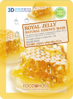 Тканевая 3D маска с экстрактом пчелиного маточного молочка Royal Jelly Natural Essence Mask